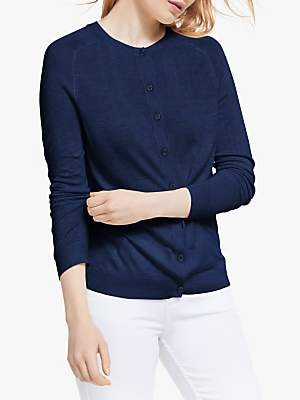 John Lewis & Partners Button Through Cardigan, Navy