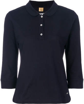 Fay cropped sleeved polo top