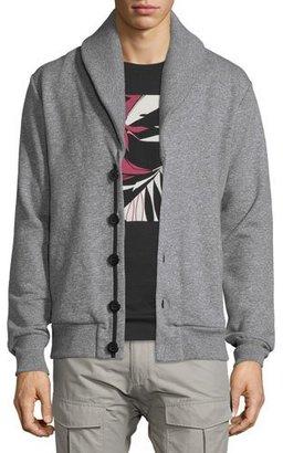 Rag & Bone Gasper Shawl-Collar Knit Cardigan, Gray $395 thestylecure.com