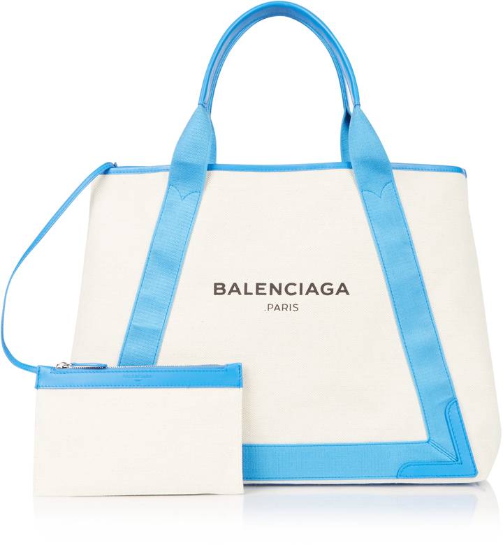 Balenciaga  BALENCIAGA Navy Cabas M cotton-canvas shopper