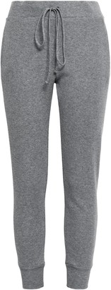Enza Costa Waffle-knit Cotton And Cashmere-blend Track Pants