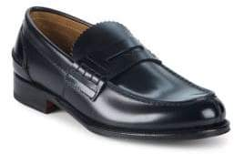 Valentino Leather Penny Loafers