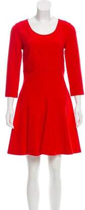 Diane von Furstenberg Bateau Collar Pleated Dress w/ Tags