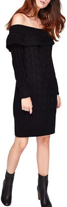 Miss Selfridge Cable Bardot Dress $75 thestylecure.com