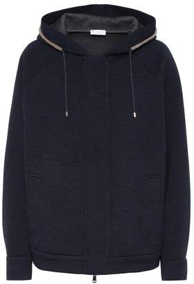 Brunello Cucinelli Wool and cotton hooded jacket