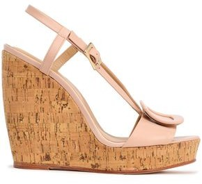 Roger Vivier Buckle-embellished Leather Wedge Sandals