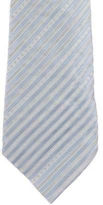 Chanel Striped CC Silk Tie