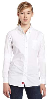Dickies Juniors Poplin Long-Sleeve Stretch Dress Shirt