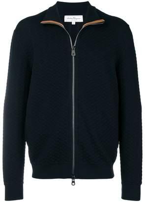 Salvatore Ferragamo zipped knitted sweater