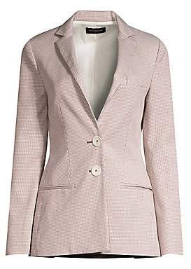 Piazza Sempione Women's Two-Button Houndstooth Blazer