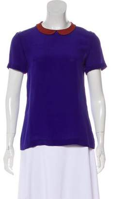 French Connection Silk Short Sleeve Top