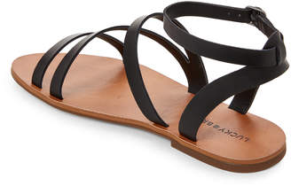 Lucky Brand Black Andies Strappy Flat Sandals