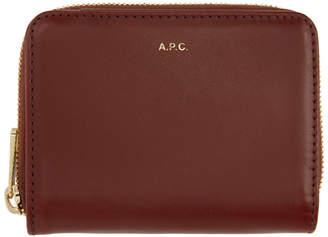 A.P.C. Red Emmanuelle Compact Wallet