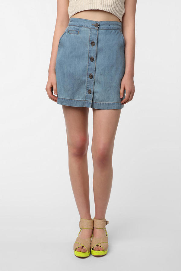 BDG Buttoned-Up Skirt