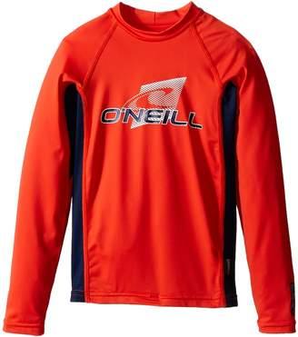 O'Neill Kids Skins Long Sleeve Crew Boy's Swimwear
