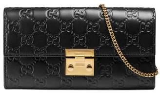 Gucci Padlock continental wallet