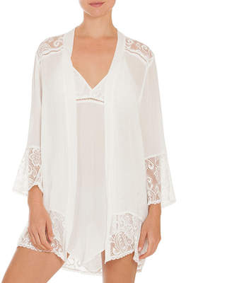 Ambrielle 3/4 Sleeve Lace Robe