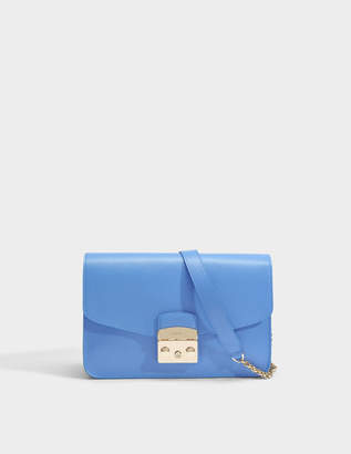 Furla Metropolis Small Shoulder Bag in Celeste Ares Leather