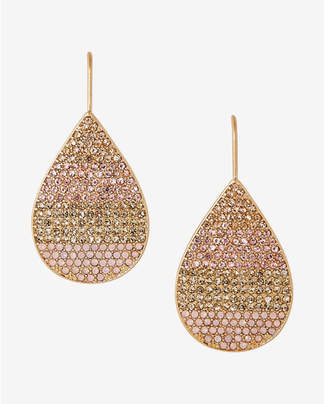 Express Pave Ombre Teardrop Earrings $26.90 thestylecure.com
