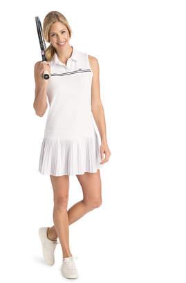 Vineyard Vines Double Stripe Pleated Sport Dress
