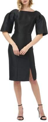 Kay Unger Eva Statement Sleeve Mikado Cocktail Dress