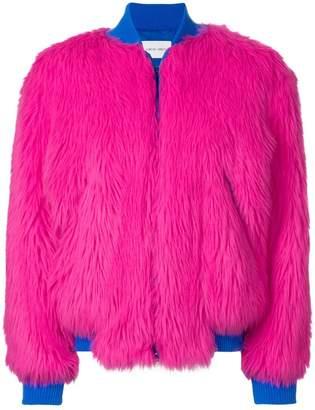 Alberta Ferretti faux-fur bomber jacket