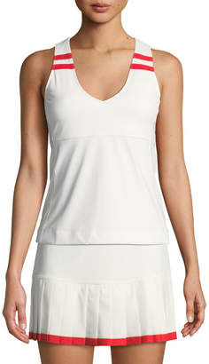 Tory Sport Padded V-Neck Performance Tank