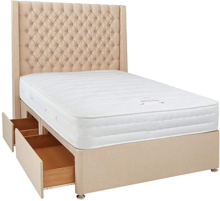 Luxe Collection From Airsprung Hepburn 1000 Pocket Spring Memory Foam Divan Bed With Storage Options