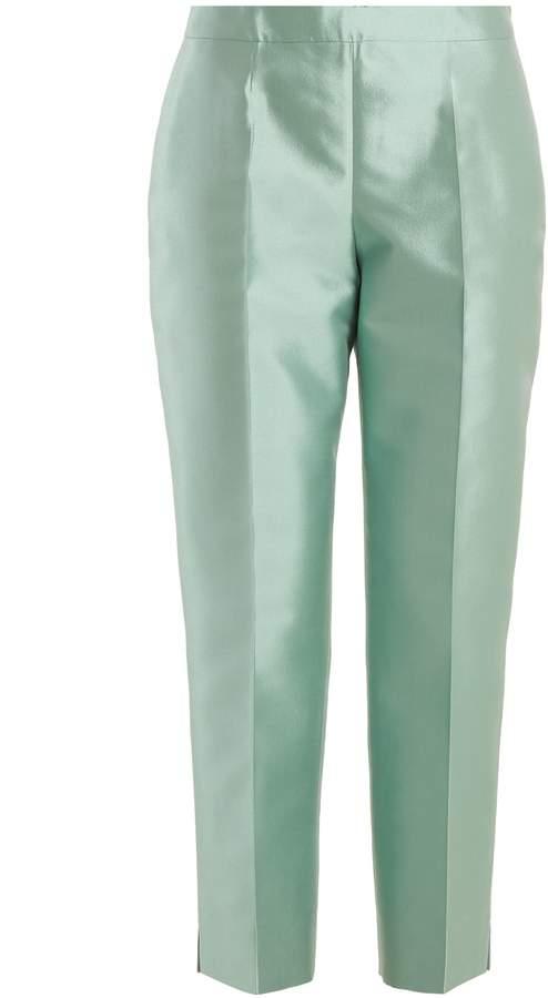 PRADA Slim-leg wool-blend trousers
