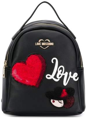Love Moschino backpack with patches