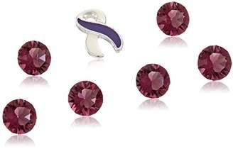 Charmed Lockets Cancer Awareness Ribbon Crystal Floating Charm Set