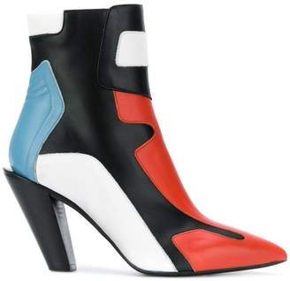 A.F.Vandevorst colour block ankle boots