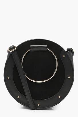 boohoo Erin Ring & Stud Round Cross Body Bag