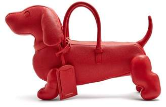 Thom Browne Hector Grained Leather Dog Bag - Womens - Red