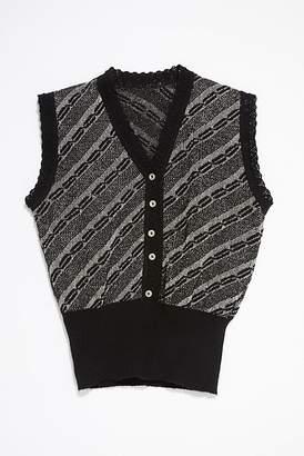 Vintage Loves Vintage 1970s Metallic Sweater Vest