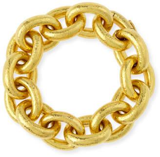 Elizabeth Locke 19k Gold Heavy Oval Link Bracelet