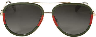 Gucci Bi-Color Aviator Sunglasses