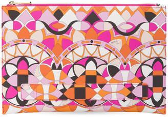 Emilio Pucci graphic print clutch bag