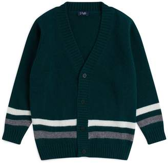 Il Gufo Wool Double Stripe Cardigan