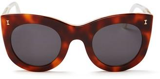 Illesteva Boca Oversized Cat Eye Sunglasses, 47mm $220 thestylecure.com
