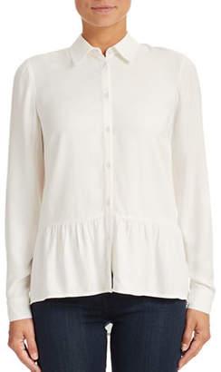 Kensie Hi-Lo Peplum Shirt