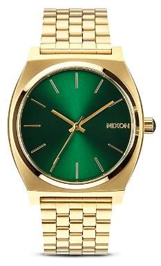 Nixon The Time Teller Sunray Dial Watch, 37mm