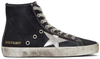 Golden Goose Navy Denim Francy High-Top Sneakers