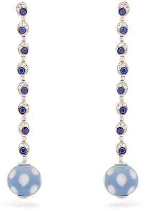 Francesca Villa Pois Pois diamond & sapphire white-gold earrings