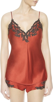 La Perla Maison Red Silk Satin Top $544 thestylecure.com