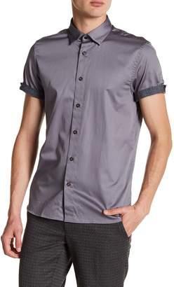 Ted Baker Lyonn Modern Slim Fit Stretch Sateen Sport Shirt