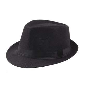 0ade81530ed2e Vim Tree Men's Classic Short Brim Straw Fedora with Band Beach Trilby Sun  Hat