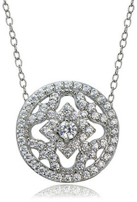 Lord & Taylor Cubic Zirconia and Sterling Silver Medallion Pendant Necklace $65 thestylecure.com