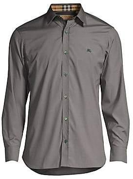 ebe3d52533f9c Burberry Men s William Check-Accent Cotton Sport Shirt