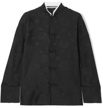 Alexander Wang Silk-jacquard Shirt - Black